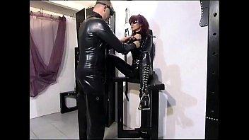 Master tortures a hot slave girl