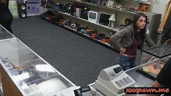 Busty Brunette In Pawn Shop