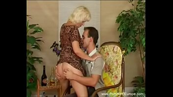 Mature dominatrix europe German mom fucks horniest son