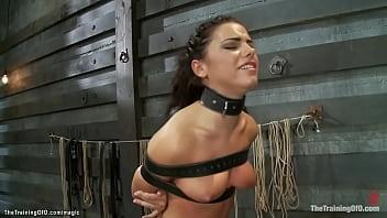 Petite slut deep throat and ass banged