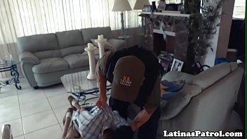 Real latina beauty banged by border security