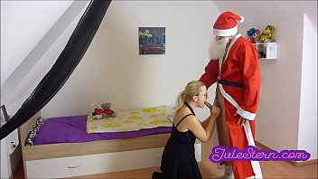 blonde teen's wish: creampie from santa claus – teen porn