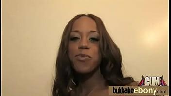 Ebony Spring Br eak Group Sex Bukkake After Pa ukkake After Party 14