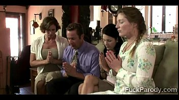 Cock exploded comedy sketch - Religious milf and her hot young daughters pray for a big fat 2014-4min-render-8