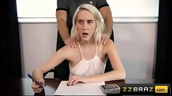 Cadence Lux in f. sex in office