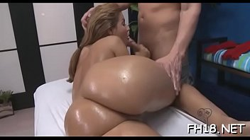 Babe is banged hard in doggy style after sucking fat ramrod