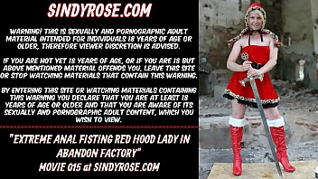 Extreme anal fisting Red Hood lady in abandon factory