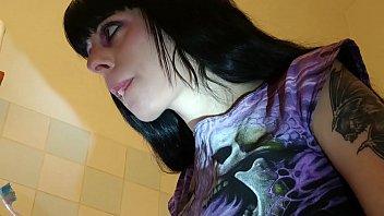 Beth Kinky - Slave watching his domina brushing her teeth pt1 HD