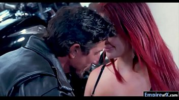 Huge Tits Redhead Babe Fucked By A Rider