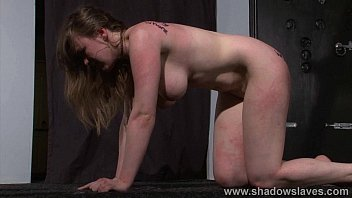 Bizarre lesbian bdsm and slapping humiliation of submissive Taylor Heart in deme