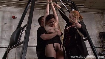 Slave Caroline Pierce whipping and strict double domination punishment of americ