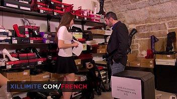 Cute French shoes seller Luna Rival anal fun 10 min