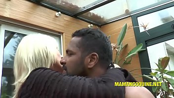 Frannie the blonde milf and his black cock