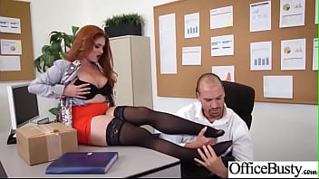 Lovely Sexy Girl (Lennox Luxe) With Bigtits Enjoy Sex In Office Video-17