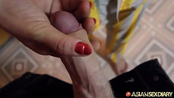 Cock starved Chinese mom gets her first white dick and offers up all 3 holes thumbnail