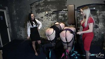 Busted Sissy Maids - Miss Jessica Wood and Mistress Chloe Lovette Punish Naughty slaves Vorschaubild