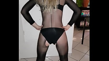 Pantyhose wife back home from night out