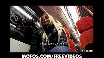 Gorgeous blonde Czech girl is picked up and paid for public
