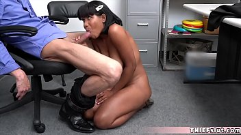 Cute brunette Jenna Foxx rough fucked by a horny cop