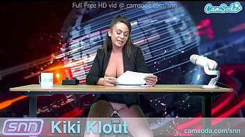 Big Tits Reporter Masturbates During The News