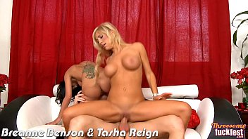 Threesome with hotties Breanne Benson and Tasha Reign thumbnail