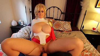 Power girl big tits Busty super siri power grrl fucked by strap on villain