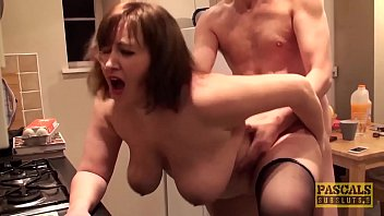 Hardfucked plumper fed with doms big cock and hot cum