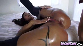 (jewels jade) Wet Oiled Big Booty Girl Love Anal Intercorse clip-15