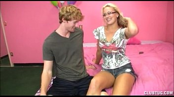 City teen ministries - Sexy blonde strokes a big dick
