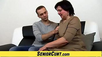 A Boy Is Playing With Lady Tanya Old Twat