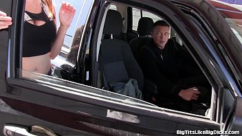 Busty Girl Fucked In The Backseat! 6 min