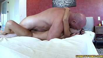 Trinity St Clairs shaved pussy romped sideways