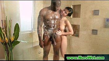 Slippery Nuru Massage Fucking With Sexy Busty Babe 20