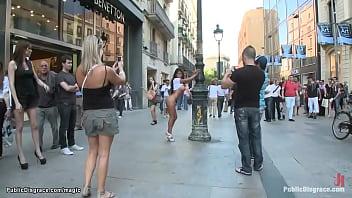 Big fake tits slut fucked in public 5 min