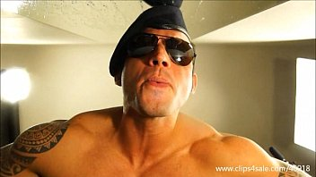 Boots trample gay stomp - Dominant muscular soldier stomps into your face - 137