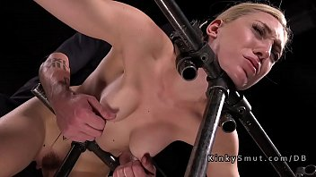 Bdsm tit suction Bound blonde got nipples suctioned