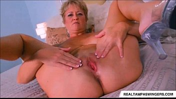 Lotza milfs - Tracy licks is alone and horny