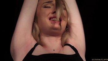 Bondage slave rough punishment and kinky spanking with cumshot swallow