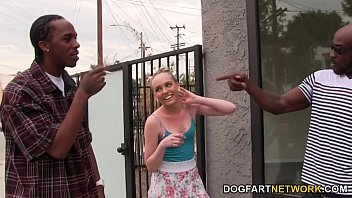 Miley May Gets Two Black Cocks To Take