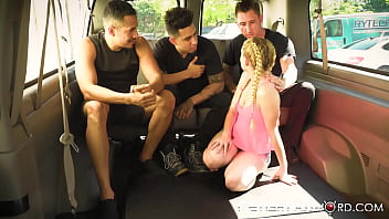 Perverts gangbang and molest slutty teen Annaliese Snow