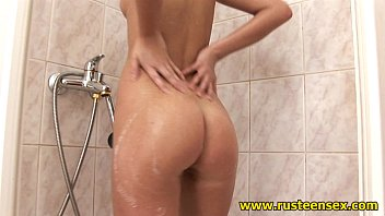 Teen shower blonde girl