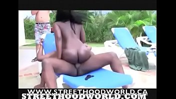 Haitian beauty with juicy ass dicked down