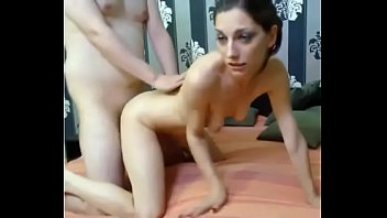 couple doggy fuck,cum in face