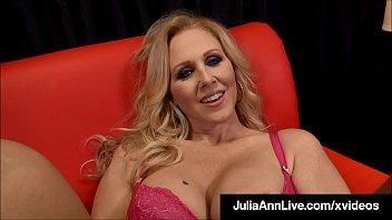 Holy Milf Blowjobs! Julia Ann Milks, Sucks & Busts A Nut!