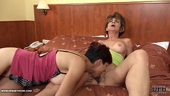 Granny group interracial fuck the grannies suck black cocks and anal sex thumbnail