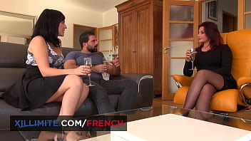 2 French brunettes for this lucky guy 10 min
