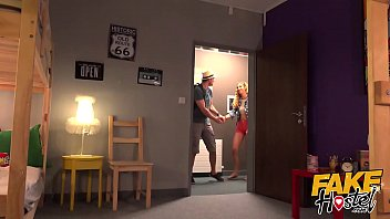 Fake Hostel Guy blindfolds his girlfriend and sneaky fucks MILF