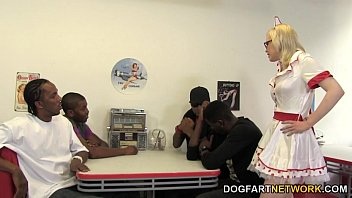 Interracial big dicks - Kristy snow enjoys an interracial gangbang