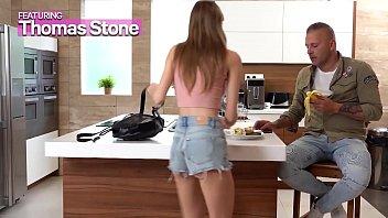 GIRLSRIMMING - Hot rimming with dirty skinny step daughter Tiffany Tatum