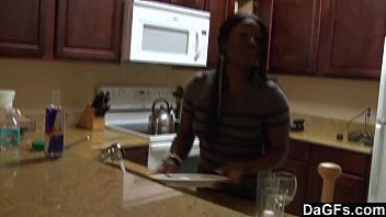 Ebony With A Big Ass Gets Fucked During The Dishes 8 min